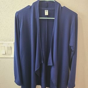 Old Navy Open Waterfall Front Cardigan-Navy